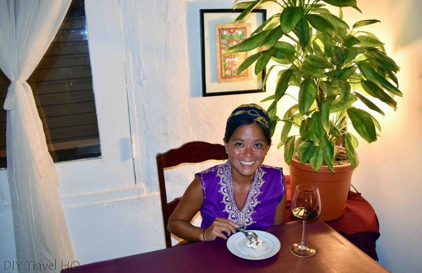 Enjoying Dinner at Cafe Rene Panama City
