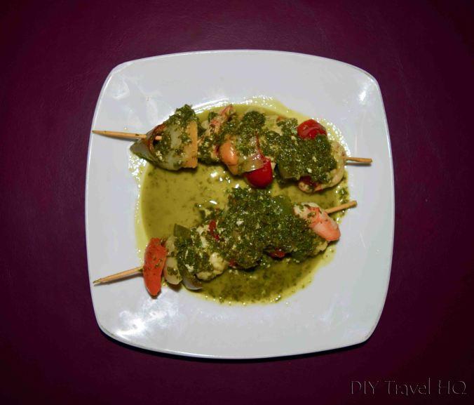 Panama City Rene Cafe Shrimp Kebabs