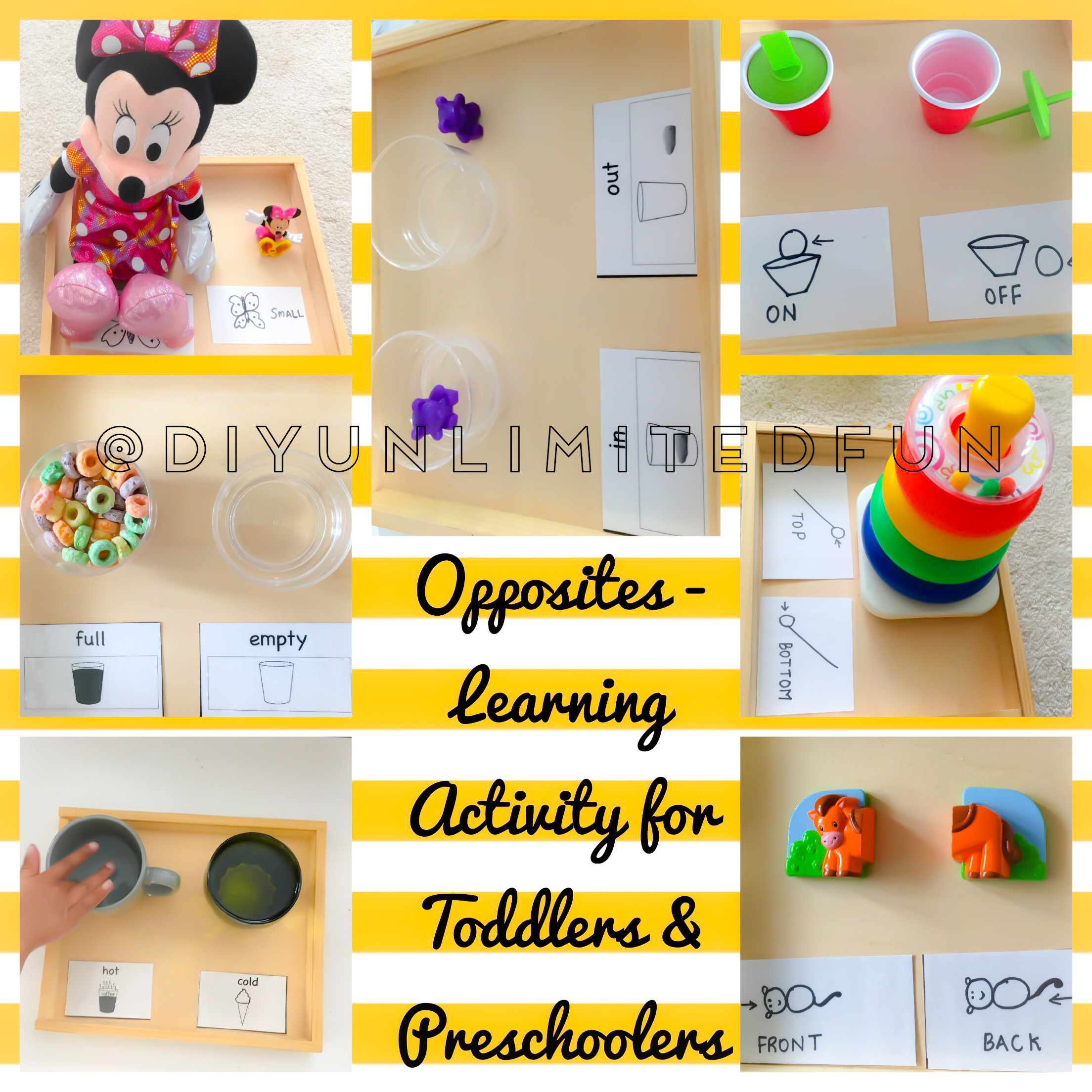 Opposites Learning Activity For Toddlers Amp Preschoolers Simple Diys Kids Activities