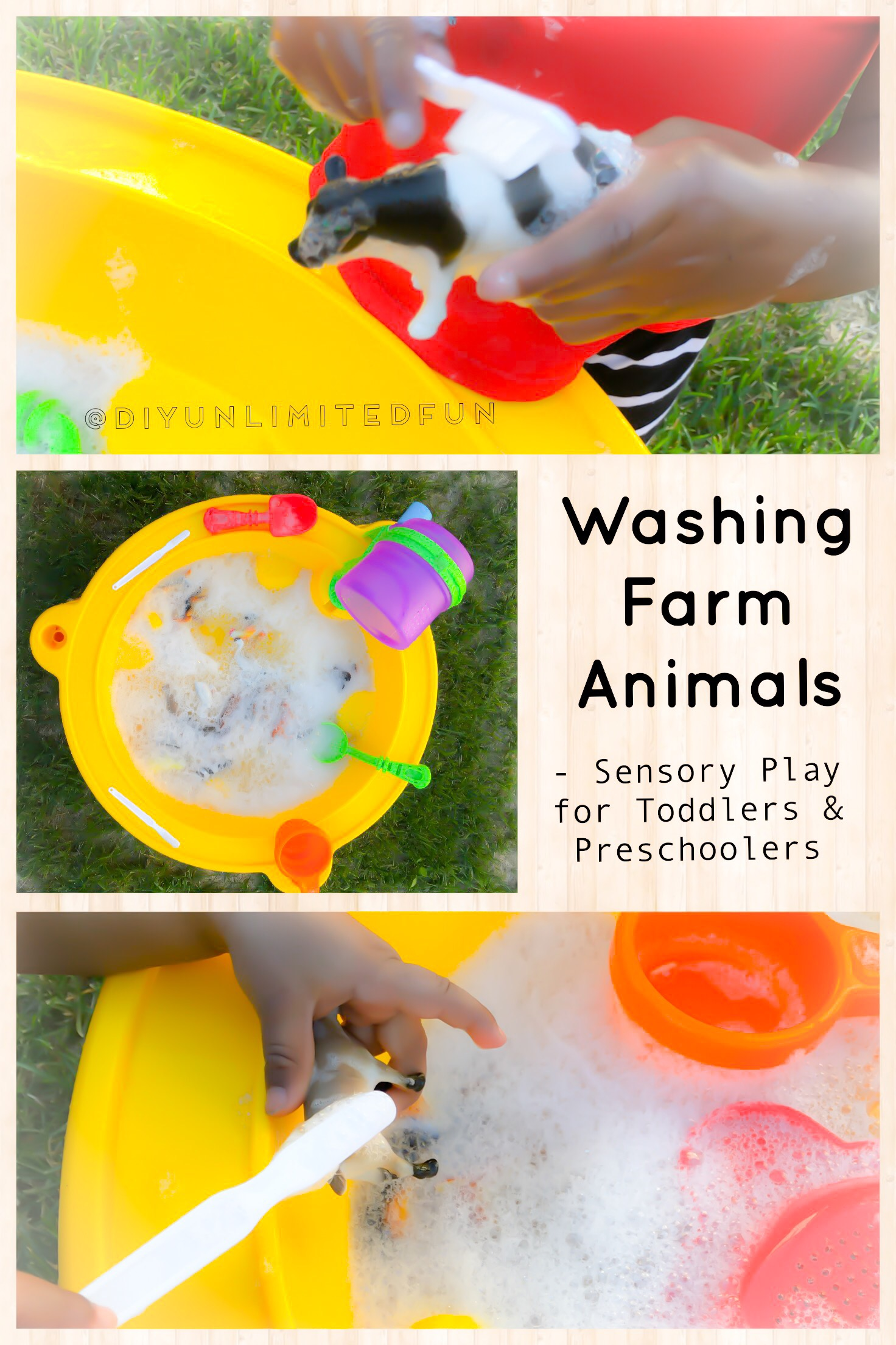 Washing Farm Animals Sensory Play For Toddlers Amp Preschoolers Simple Diys Kids Activities