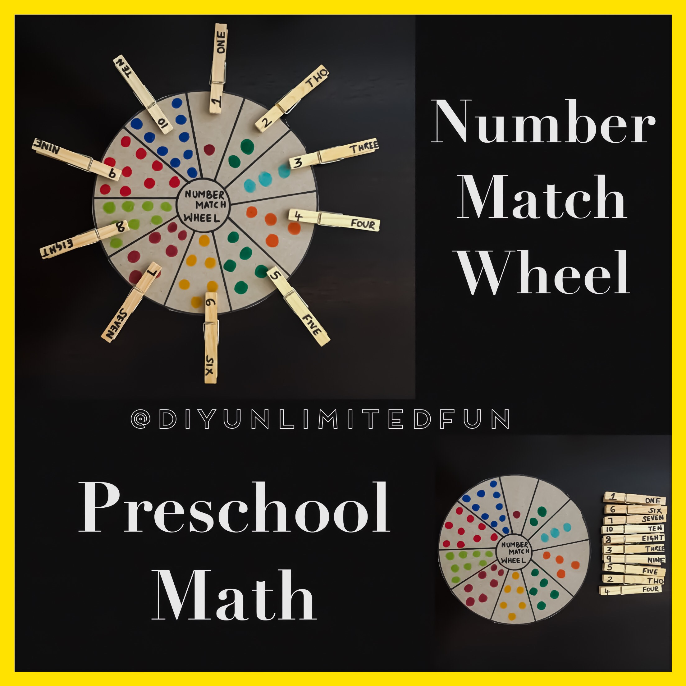 Number Match Wheel Preschool Math Simple Diys Kids Activities
