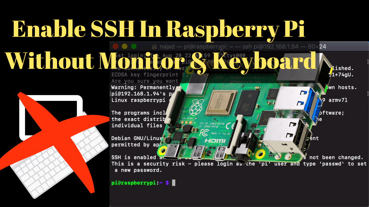 Enable SSH on Raspberry Pi in 6 steps even if you don't have an HDMI monitor & keyboard