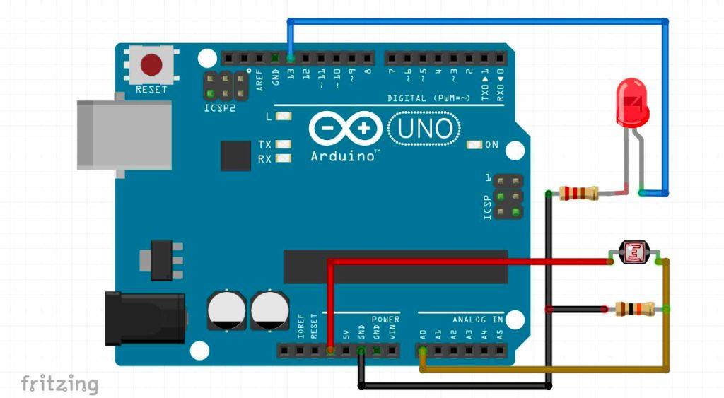 LDR with Arduino UNO