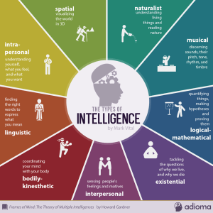 9 types of intelligence infographic