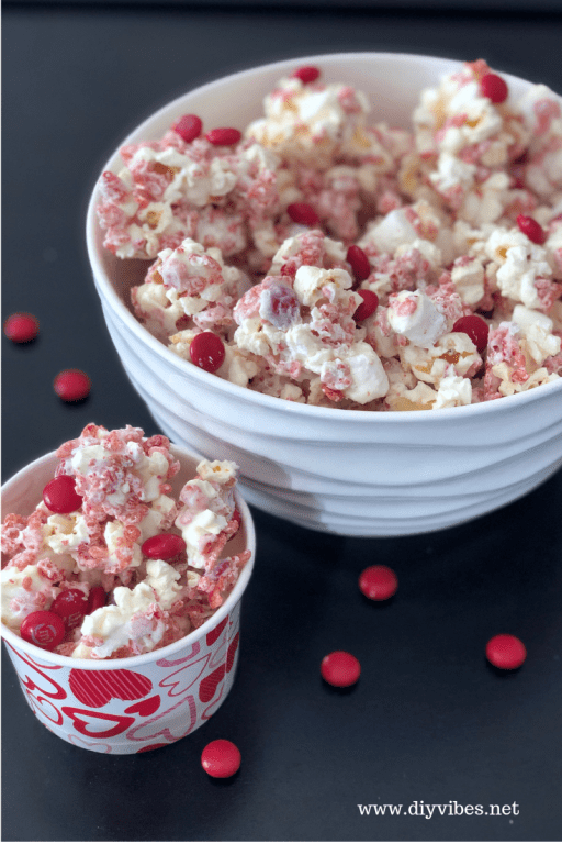 Valentine's Strawberry White Chocolate Popcorn