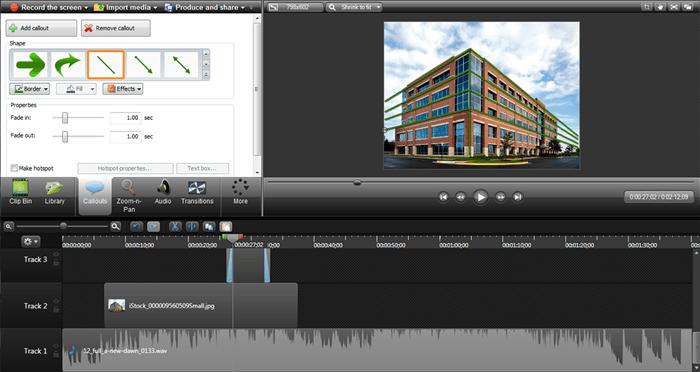 Camtasia Studio full user interface image.