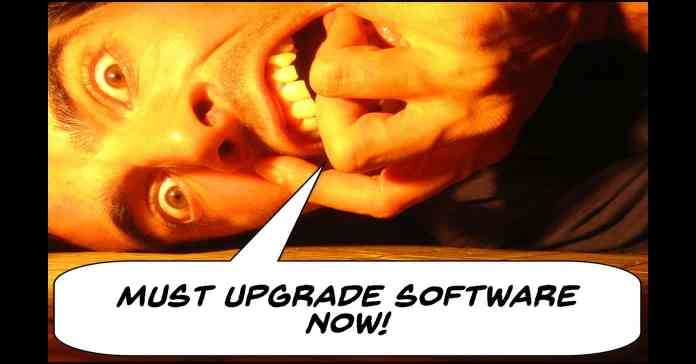 Frustrated editor crying for upgraded software.