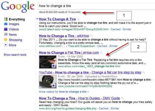 Search Engine Results Video