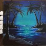 Lagoon painting