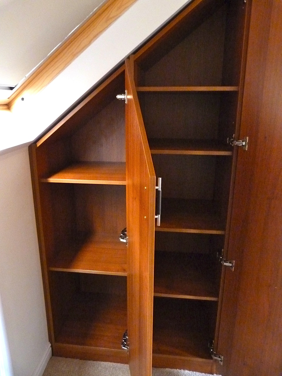 Sloping Cabinets For An Attic Conversion DIY Wardrobes