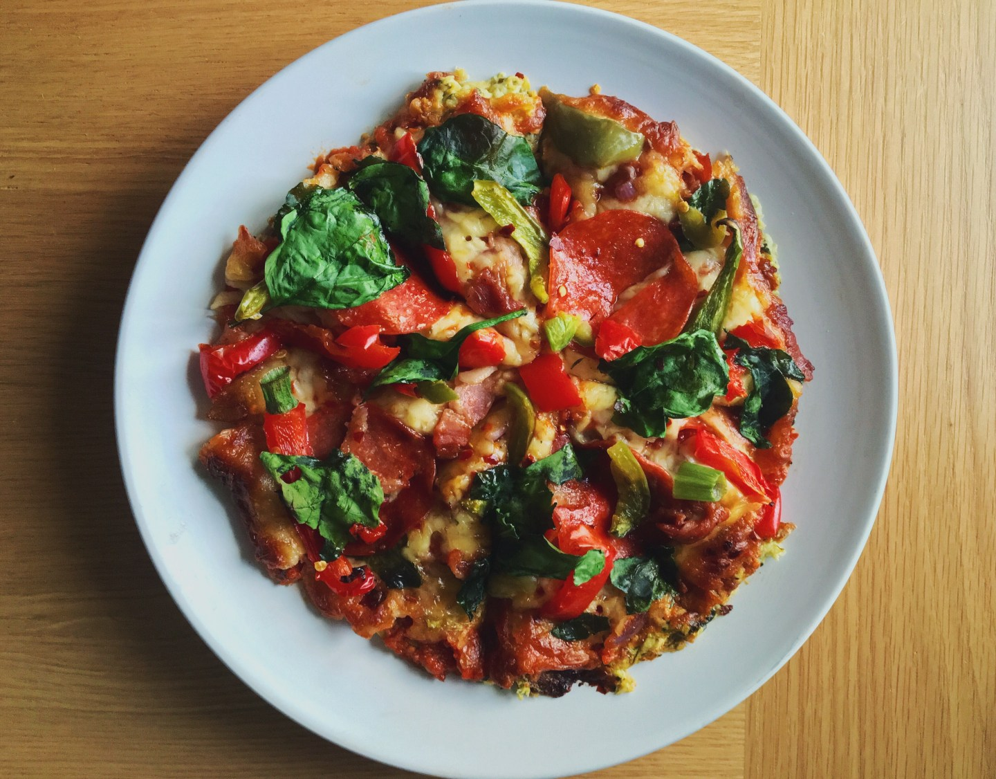 BBQ Bacon and Pepperoni Courgette Crust Pizza