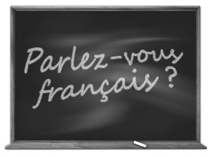 Bilingualism on a blackboard | More on www.diywoman.net