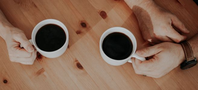 coffee, cups, table, timber | See more at www.diywoman.net