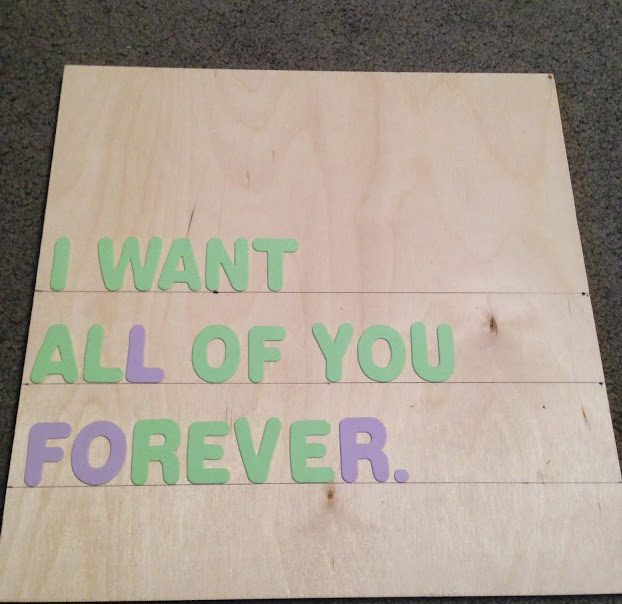 DIY Wood Quote Sign