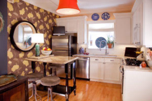 сочетание оттенков в кухне