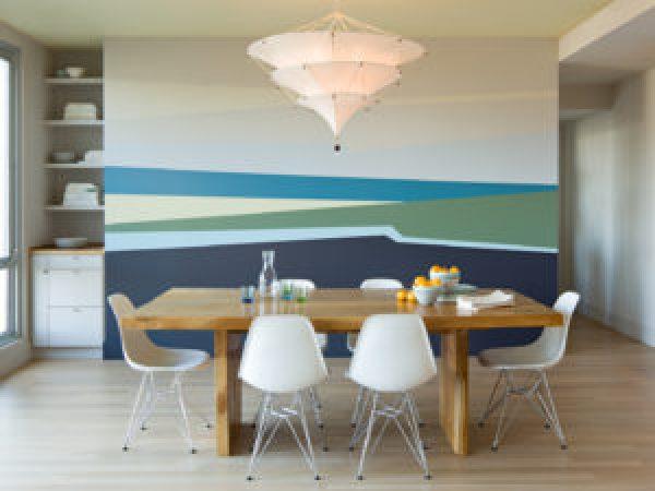 фото Окрашенные стены в кухне