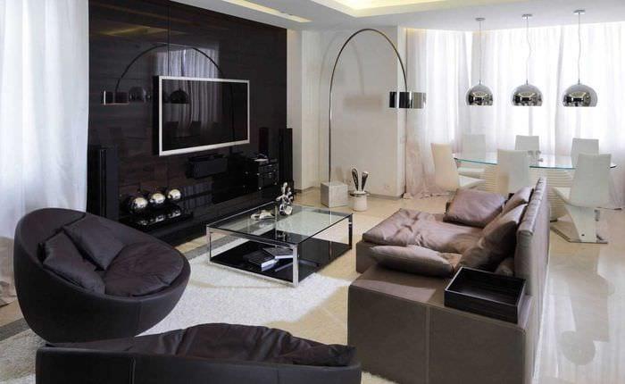 гостиная с эркером дизайн 5