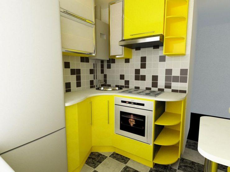 холодильник на кухне дизайн 7