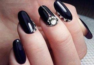 дизайн ногтей стразы 7