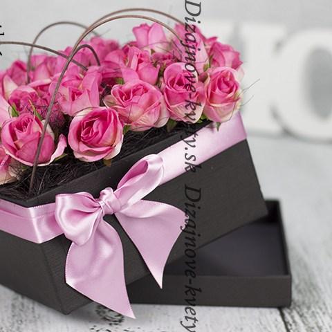 Flower box - růže