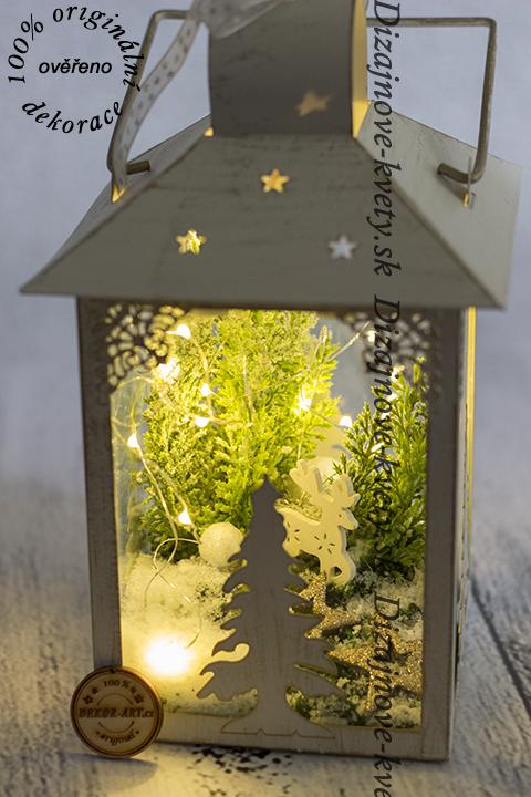 Okrasný doplnok do priestorov reštaurácie a predajne s vianočným a zimným motívom.