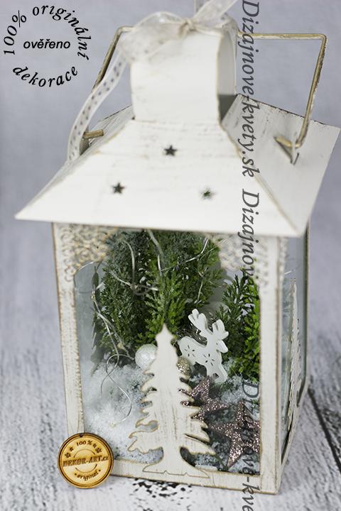 Zimné dizajn sa soby a snehom LED vianoce