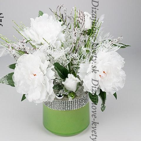 Moderná dizajnová zimná kvetina biela v Planta keramike