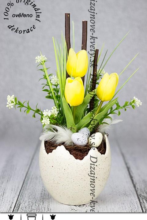 Jarná škrupina s tulipánmi