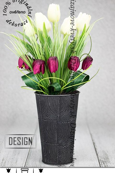 Luxusná dizajnová dekorácie s Francúzskymi tulipány