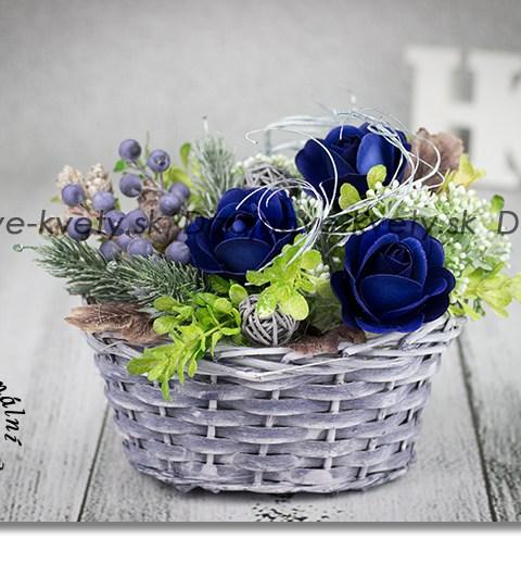 modré ruže, bytová dekorácia, jeseň, módne