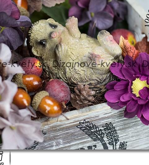 jesenné, bytová dekorácia, ježko
