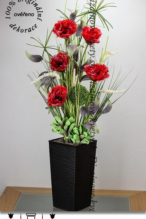 bytová dekorácia, vlčie maky, červené, dizajn, kvetinové dekorácie