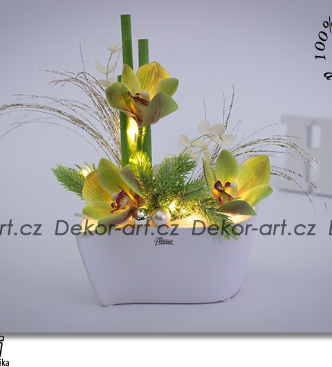 orchidea, vianočné dekorácie, ľad dekorácie, kvetinové aranžmá