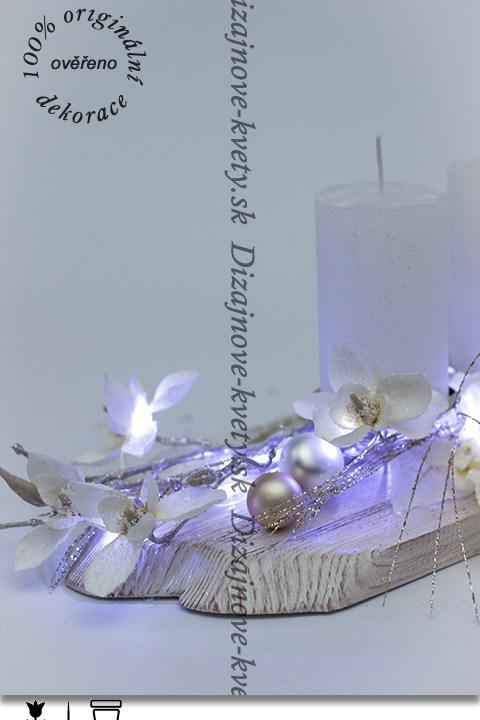 dizajnový svietnik, moderné smotanové odtiene, vianočné dekorácie, svietnik na stôl