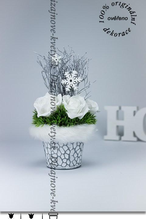 bytová dekorácia, recepcie, vianočné dekorácie, biele ruže, dizajn