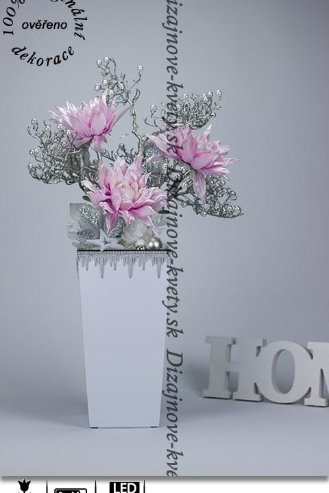 ľad, dekorácie, vianočné, krásne kvety, perly