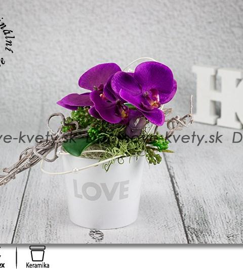 love, orchidea, darček, kvetinová dekorácia