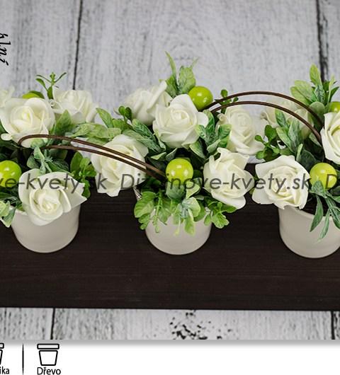 bytová dekorácie, dekorácie na stôl, dizajnová dekorácie, dekorácie na recepcie, ruže
