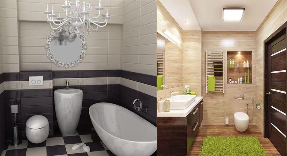 дизайн маленькой ванной комнаты 2018 3