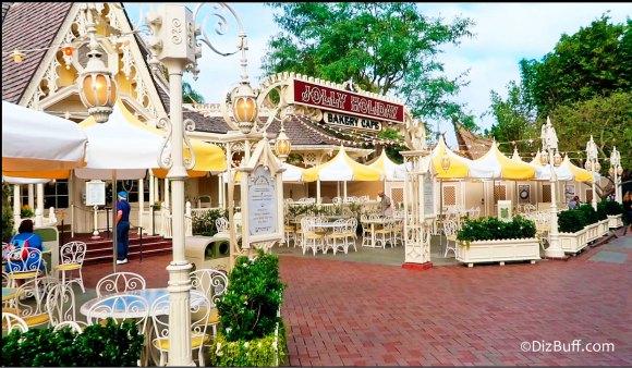 Jolly Holiday Restaurant at Disneyland California exterior view