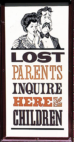 Lost Parents Sign cropped