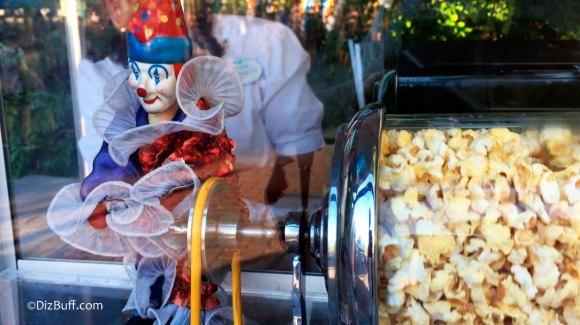 Clown popcorn turner roastie toastie near Its a small world in Disneyland California