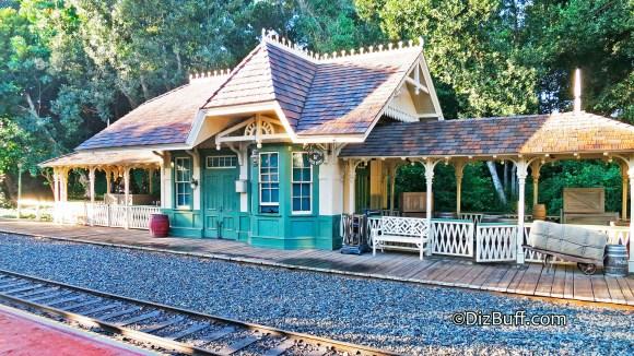Disneyland Anaheim CA Train Station at New Orleans Square