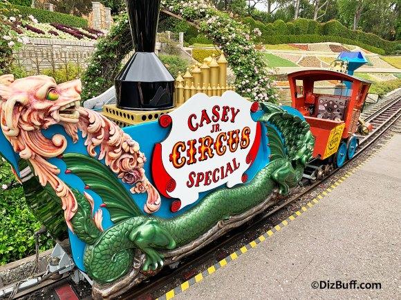 Close up of Casey Jr Circus Train in Disneyland