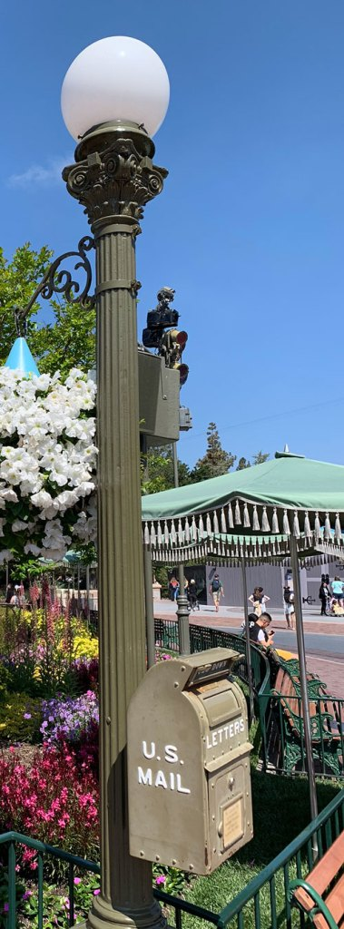 Light fixture Lamppost in Castle Hub or Central Plaza in Disneyland