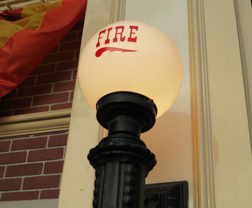 Disneyland Fire Department light fixture in Town Square Disneyland