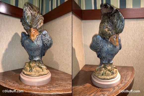 Grotesque Bird Elvis the Stellers Jay in Disneyland Grand Californian Hotel