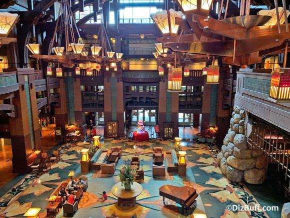 Great Hall lobby at Disney's Grand Californian Hotel and Spa