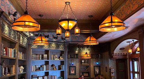 Market House ceiling light fixtures on Main Street in Disneyland CA