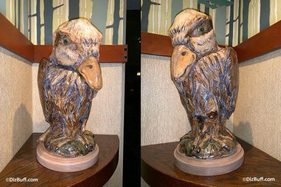 Grotesque Bird Sam the Bald Eagle in Disneyland Grand Californian Hotel